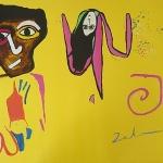 Othello On Yellow Background